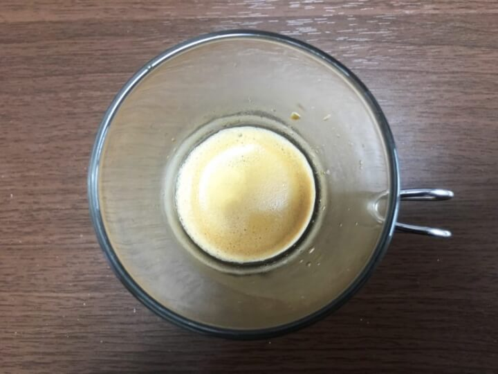 ドルチェグストでコーヒーを淹れたコーヒー