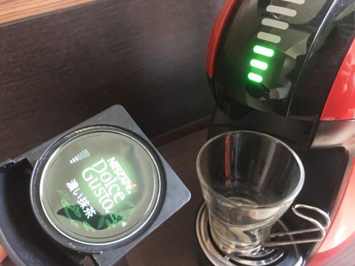 ドルチェグストのカプセルホルダーに濃い抹茶をセット